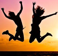 Alegria e felicidade